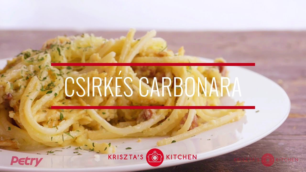 Photo of Csirkés carbonara spagetti recept